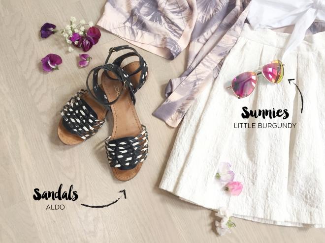 July 25 - Flower Market Outfit - Blog - Sandals