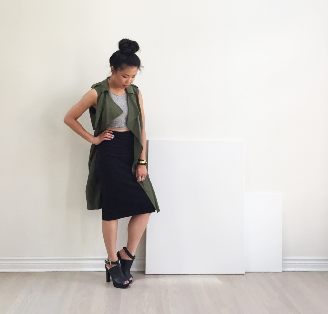August 11 - My Obsession Monday - Zara Flowy Vest - Full Outfit