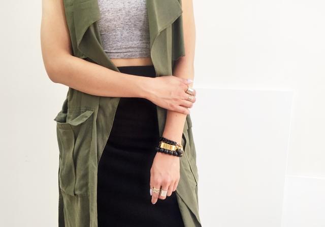August 11 - My Obsession Monday - Zara Flowy Vest - Jewellery crop
