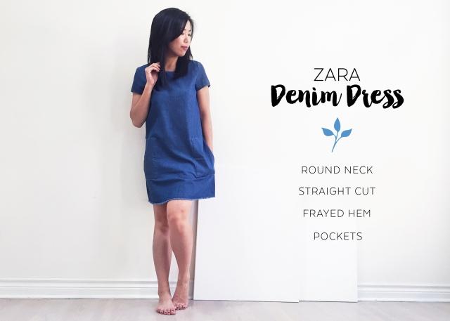 Sept 10 - Zara Denim Dress - Dress
