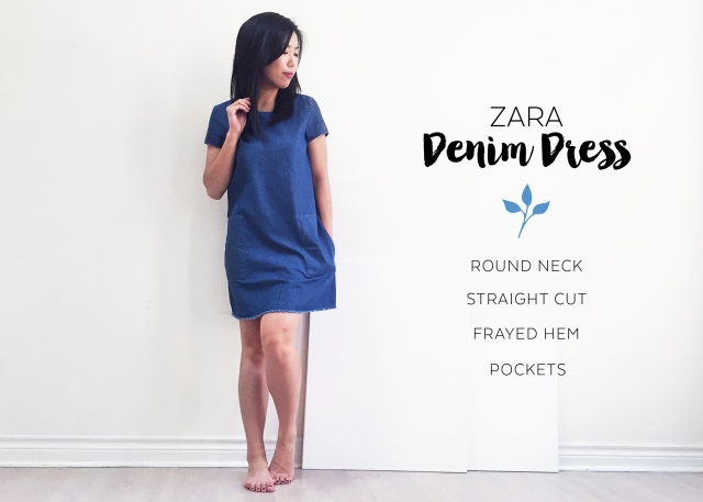 Sept 10 - Zara Denim Dress - Dress