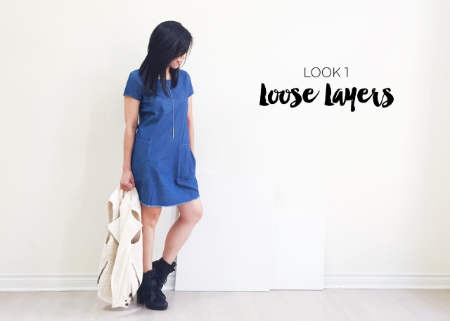 Sept 10 - Zara Denim Dress - Look 1