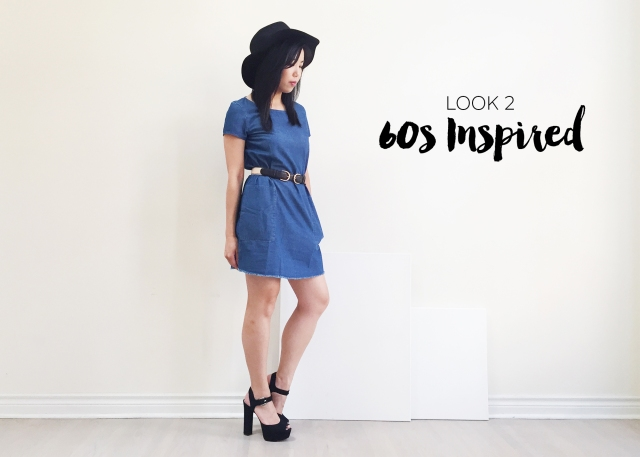 Sept 10 - Zara Denim Dress - Look 2