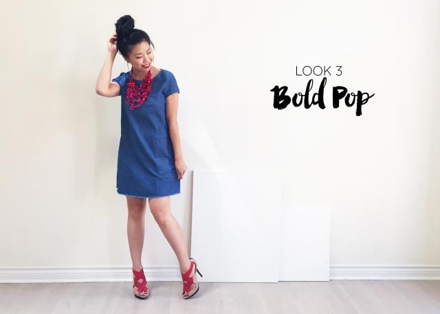 Sept 10 - Zara Denim Dress - Look 3