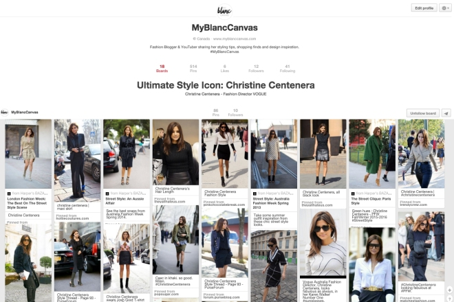 My Blanc Canvas - Pinterest Christine Centenera