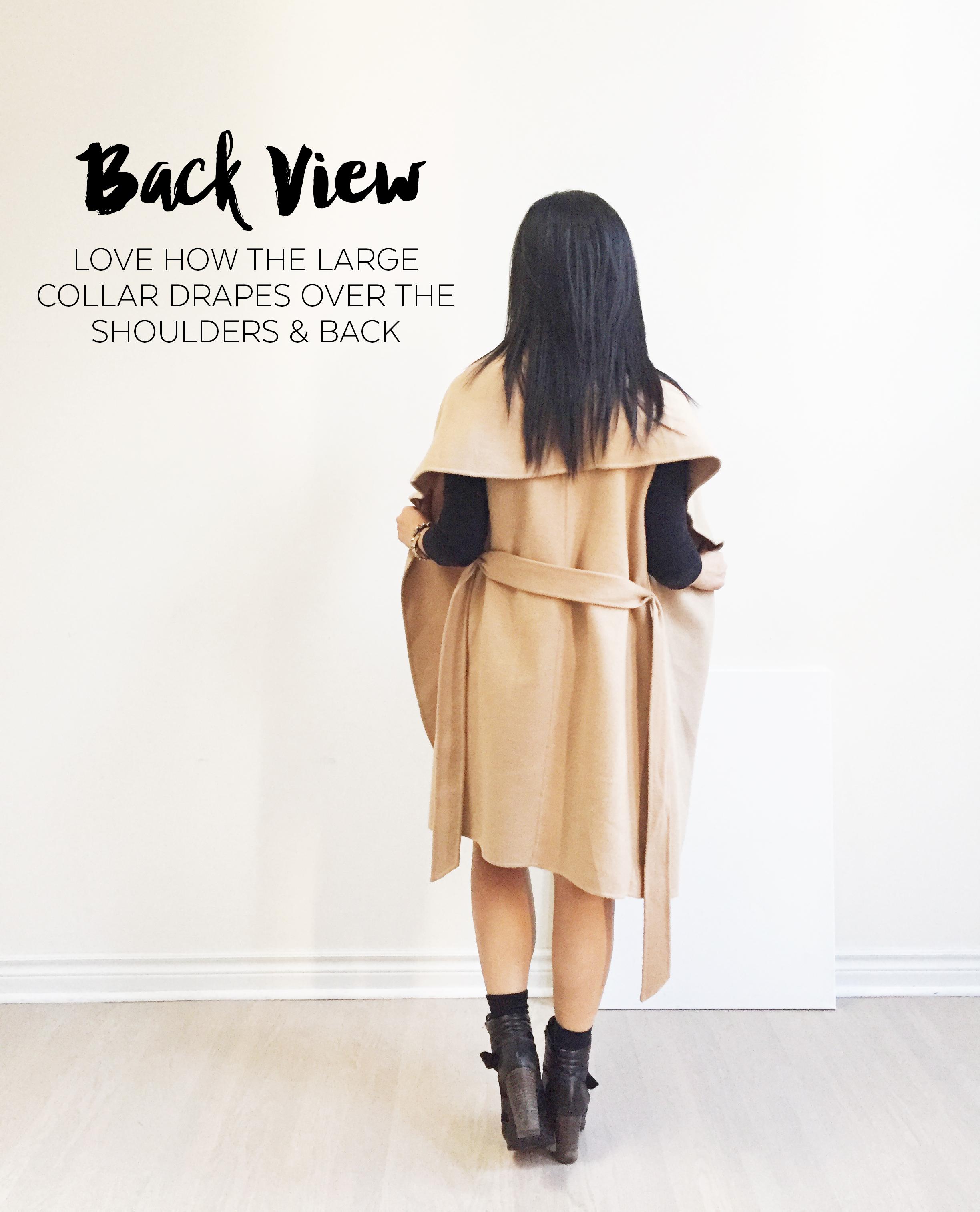 Nov 16 - Ever New Coat - Back View