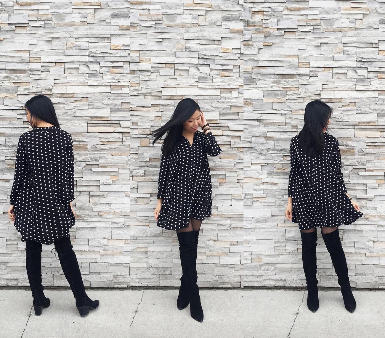 My Obsession Monday - Zara Polka Dot Dress - Outfit.jpg