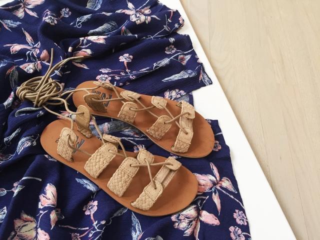 NEON Spring Look - Sandals