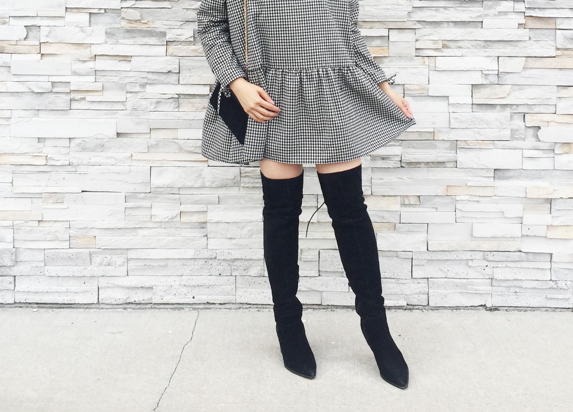 Sept 2017 - 2 Looks Zara Check Dress - Look1B.jpg