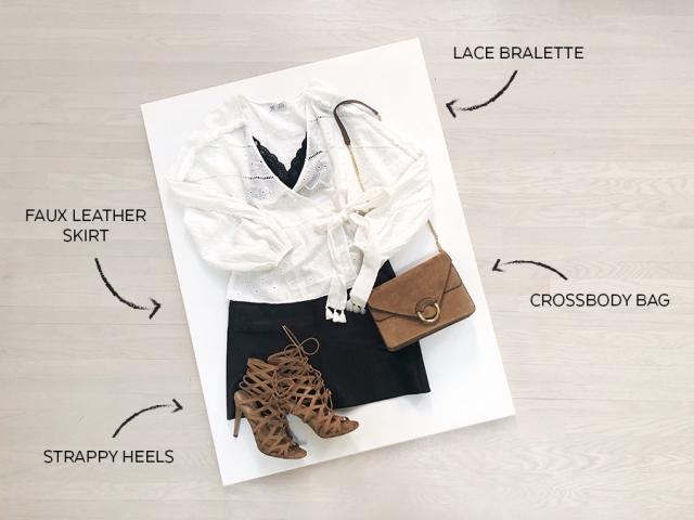 Zara White Embroidered Shirt - Look2 - NightOut