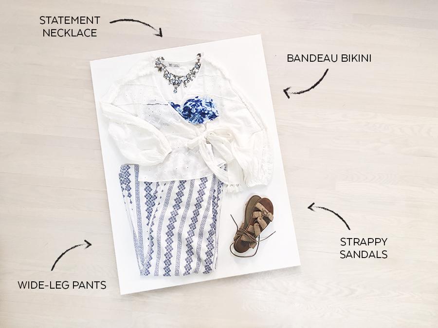 Zara White Embroidered Shirt - Look3 - Vacay