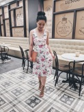 Vacation outfit at Excellence Oyster Bay's Aroma coffee shop